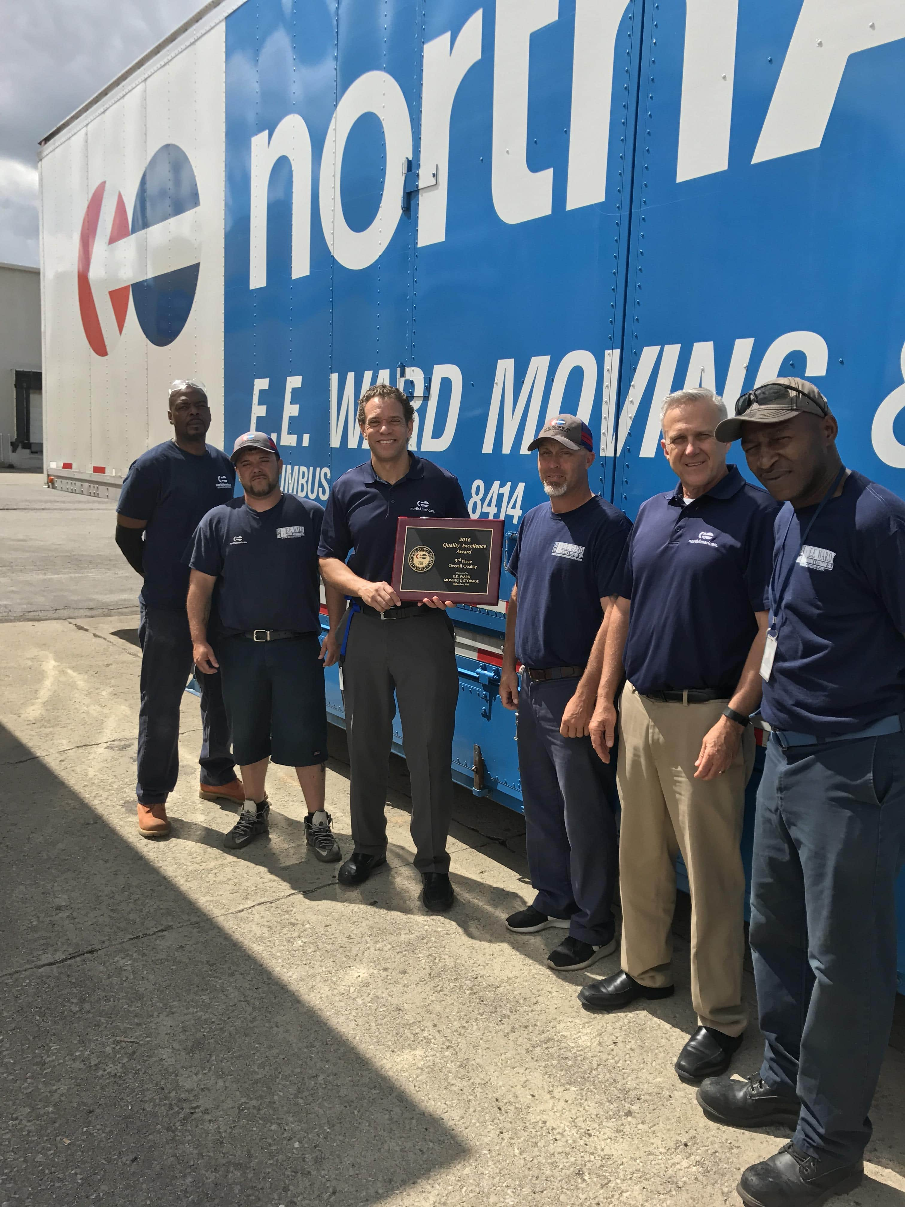 Columbus Movers win 3rd Place Quality Excellence Award