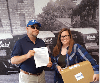 Columbus Movers Receive The Power of Blue Recognition
