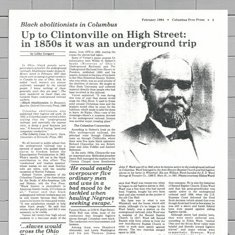 #ThrowbackThursday- Columbus Movers Remember Ties To Underground Railroad