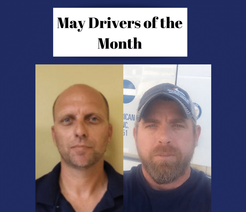 May Drivers Of The Month