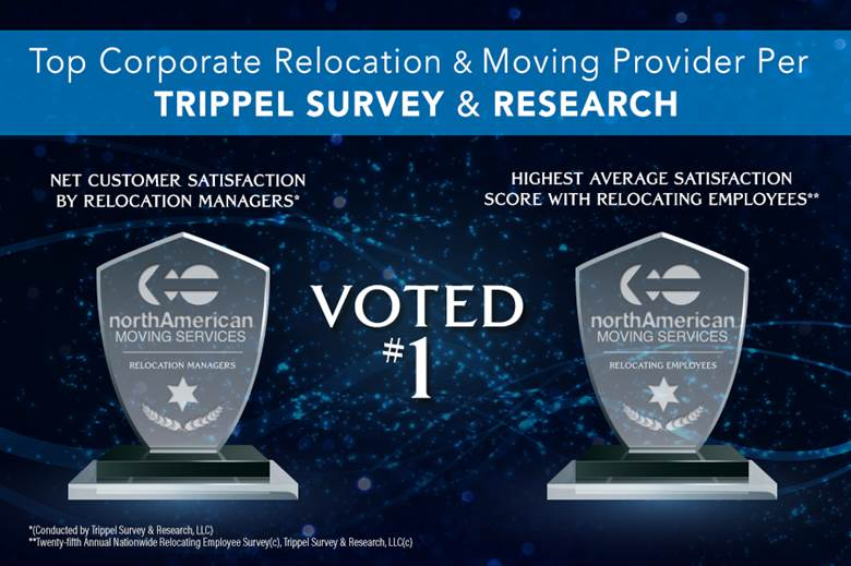 EE Ward Congratulates fellow members of the northAmerican Van Lines Network on Recent Trippel Awards