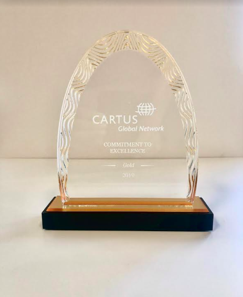 E.E. Ward Moving & Storage Receives Commitment to Excellence Gold Award at Cartus 2019 Global Network Conference