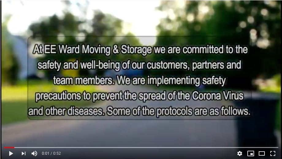 E.E. Ward Columbus Movers COVID-19 Safety Precautions