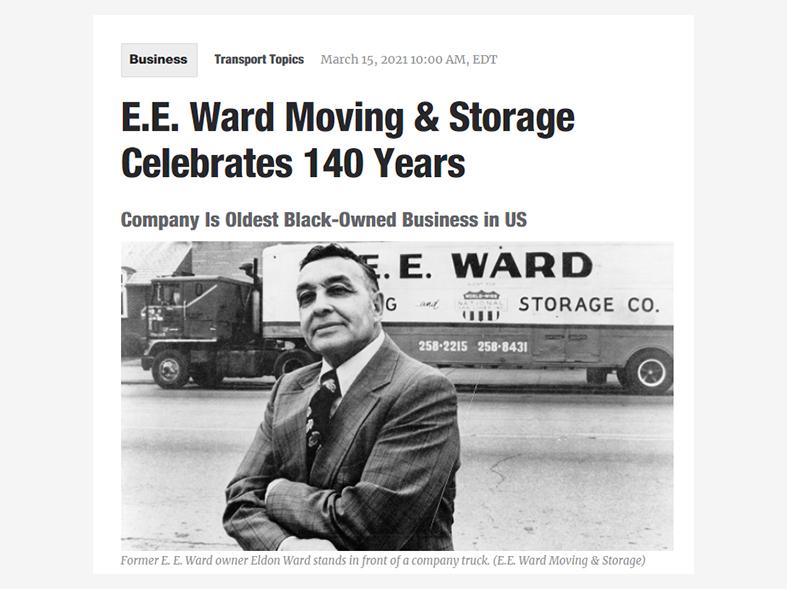 E.E. Ward Anniversary Article Featured in Transport Topics